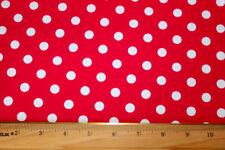 Red/white Polka-dot Lycra/Spandex 4 way stretc Fabric by 1/2 yard