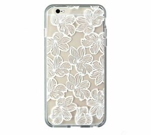 Sonix Clear Coat Hybrid Case for iPhone 6s Plus / 6 Plus - Clear / White Flowers
