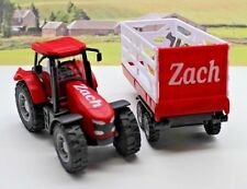 PERSONALISED NAME Gift Red Farm Tractor Trailer Boys Toy Christmas Present Box