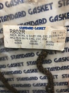 R802R Cork Valve Cover Gasket NOS fits 64-80 AMERICAN MOTORS 6 cyl 199, 232, 258
