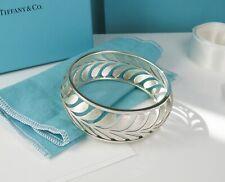 NEW Tiffany & Co. Villa Paloma Wide Paisley Palm Bangle Silver- Retired Size M
