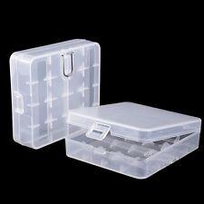 Batterie Fall Plastik Kunststoff Box für 4x18650 Transparent w/