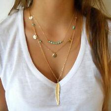 Multi-layer Necklaces Charm Pendants Womens Teen Elegant Charm Jewelry j12👀💕