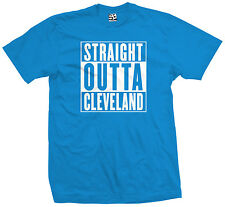 Straight Outta Cleveland T-Shirt - Indians Cavs Browns Movie Parody - All Colors