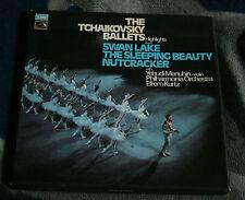 TCHAIKOVSKY BALLETS HIGHLIGHTS SWAN LAKE  NUTCRACKER  UK 3LP BOX HMV SLS 859