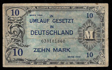 New ListingWorld Paper Money - Germany10 Mark 1944 Mpc Military Payment @ Fine Cond.