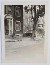 Antique B&W Photograph C. Early 1900s Elephant Inn, Car, Signage - Beautiful