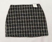 Nutmeg Womens Black Check  Mini Skirt Size 14