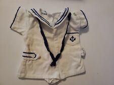 Authentic Vintage Cabbage Patch Kids Clothes Doll Outfit Romper Sailor Suit Set