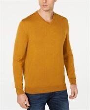 Club Room Merino Performance V-Neck Sweater Gold Dust Mens XL New