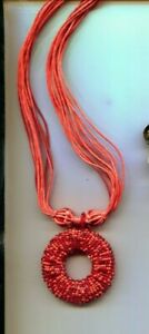 COLDWATER CREEK RED PENDANT necklace