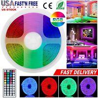 16.4 ft RGB 5050 150 LED Strip Lights Flexible Dimmable Multi Color  Decor Light