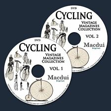 Cycling Vintage Magazine Collection 104 PDF E-Books on 2 DVD Bicycle,Tricycle