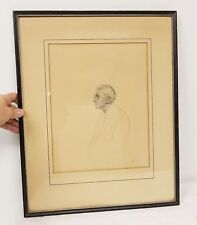 Antique Fine Quality Pencil Drawing by ROBERT CONRAD JR. Bullfighter Boxer