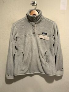 Patagonia Women's Re-Tool Snap-T Pullover Fleece Jacket MEDIUM White (SEE PICS)