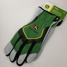 John Deere LG All-Purpose Utility work gloves green/black/gray w/ logo COWHIDE