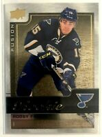 2015-16 Robby Fabbri Upper Deck Fusion Rookie Achievements Gold #R8 Blues