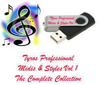 USB Stick Tyros 2 3 4 5 Professional Styles and Midi's for yamaha keyboards