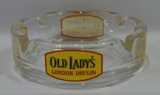 OLD LADY'S London dry gin cendrier transparent verre NEUF