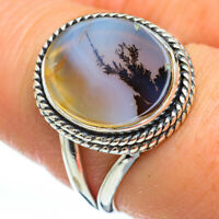 Scenic Dendritic Agate 925 Sterling Silver Ring Size 8.5 Ana Co Jewelry R45320F