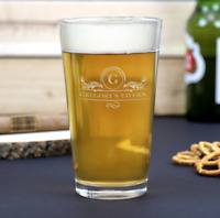 Personalized Beer Pint Glass | Engraved