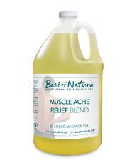 Best of Nature Muscle Ache Relief Blend Massage & Body Oil - Half Gallon (64oz)