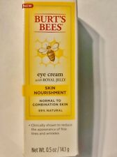 Burt's Bees EYE CREAM with Royal Jelly Skin Nourishment .5 oz.