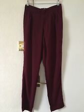 BNWT Missguided Burgundy Trousers With Pockets Size 10