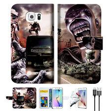 Iron Maiden Wallet Case Cover For Samsung Galaxy S7 Edge-- A014