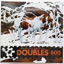 CEACO® 600pc DOUBLES™ • PINTOS / HORSES • 2 PIECES MAKE ONE �� PUZZLE Jig Saw