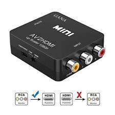 MINI HDMI Upscaler VIDEO COMPOSITO RCA A HDMI Adattatore 1080P