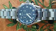 VICTORINOX SWISS BLUE ARMY CHRONO CLASSIC XLS STAINLESS STEEL WATCH  241652 MINT