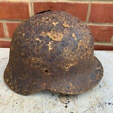 Original WW2 Normandy Relic German Army Helmet - #15