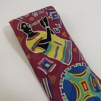 Dayo Alakija African Art Tie Vintage Ralph Marlin Necktie RM Style 1993 Silk