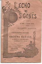 Bordeaux 1919.Echo de St Genes. Amicale des anciens élèves.28 pages.