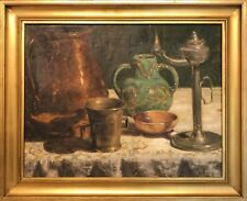 STILL LIFE with UTENSILS and OIL LAMP
