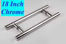"Entry Front Door 18"" Long Commercial Door Pull Handle Stainless Steel Entry"