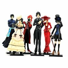 6PCS Japan Anime Black Butler Kuroshitsuji Action Figure ceil Set Toy 12CM Tall