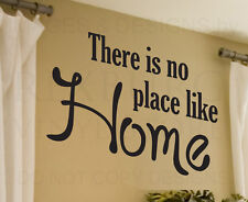 Wall Decal Sticker Quote Vinyl Art Large There's No Place Like Home Entryway H05