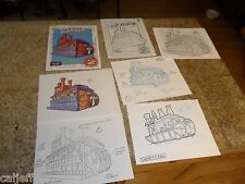 7 lot ORIGINAL COLOR ART LOONEY TUNES ROAMING RIVERBOAT BURGER KING FASTFOOD TOY