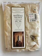 Croscill ROSANA Waterfall Window Swag Valance  48.5 x 38 Gold Floral NEW