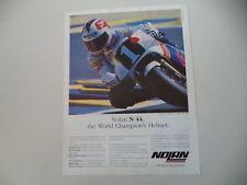 advertising Pubblicità 1989 CASCO HELMET NOLAN N44 e SITO PONS