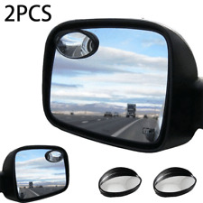 2PC Safety Vehicle Oval Shaped Blind Spot Mirror Wide Angle View Driver For Car