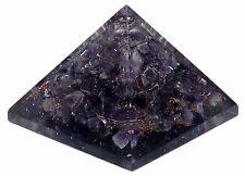 Amethyst Stone Orgone Pyramid Spiritual Energy Generator Reiki Healing Crystal