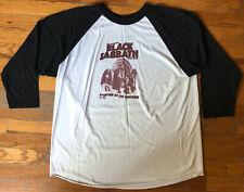 Black Sabbath Symptom of the Universe 2002 Promo Raglan / Baseball T-Shirt Sz XL