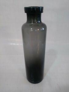 "Decorative ~ Glass  ~ Smoky Black ~ 11""  Bottle ~ Very Contemporary HAND MADE!!"