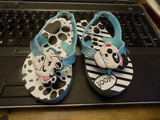 Disney 3D Dog heads sparkle Flip Flops Sandals Shoes Girls 101 Dalmatians sz 5 6