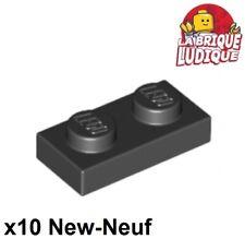 10x LEGO ® 88072 Plaques Plaque 1x2 avec crochet Noir Black Neuf