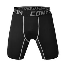 Mens Compression Shorts Workout Boxer Running Underwear Dri fit Black Asian SZ L