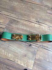Hermes Belt Collier De Chien CDC Belt Kelly green leather. Vintage 90's